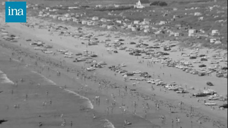 3000 voitures garées sur la plage... / © INA