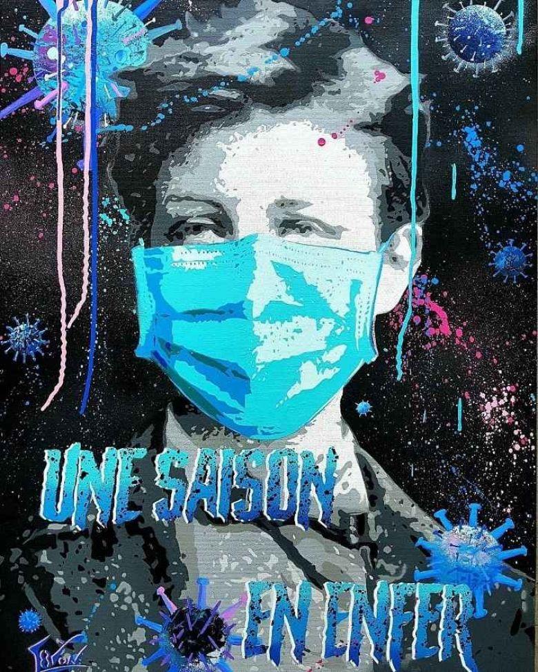 """""""Crise Sani'Terre"""", c'est la dernière oeuvre de L8zon, inspirée par le confinement et la pandémie de Coronavirus / © L8zon, artiste peintre"""
