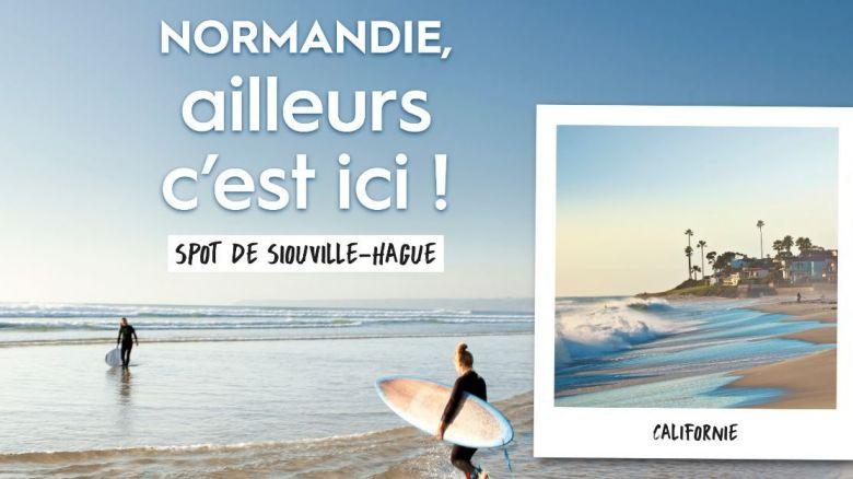 Le spot de Siouville-Hague surfe sur la Californie / © Région Normandie