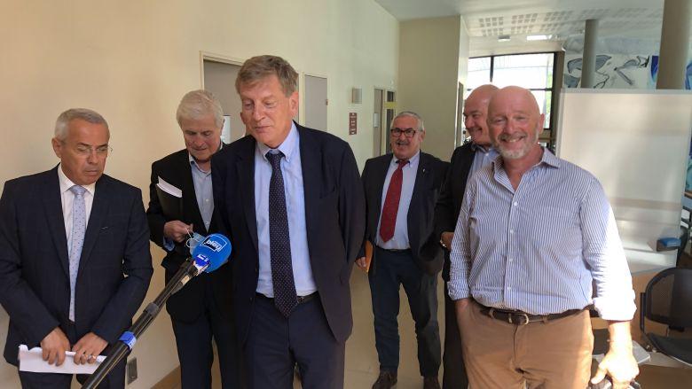 Le préfet Eric Spitz a reçu les maires des communes du littoral basque / © Rémi Poissonnier - France 3 Euskal Herri