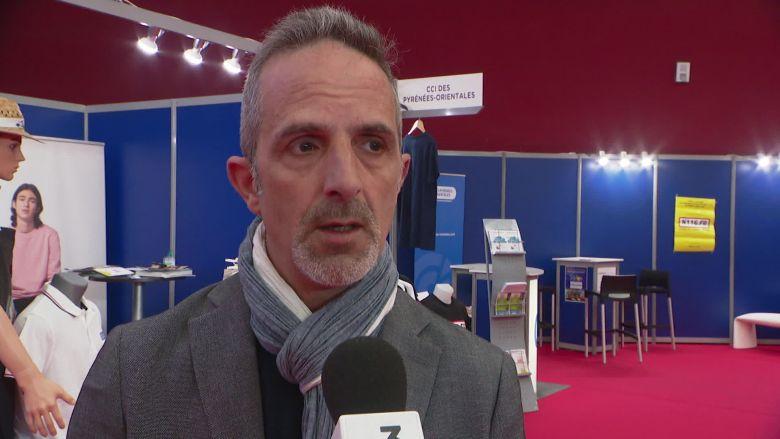 Hervé Montoyo, président départemental l'Union des Métiers de l'Industrie Hôtelière (UMIH) Pyrénées-Orientales / © FTV France 3 Occitanie