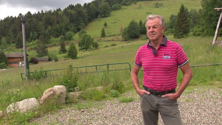 Jean-Louis Barthel au lieu-dit du Frenz / © Vincent Roy / France Télévisions