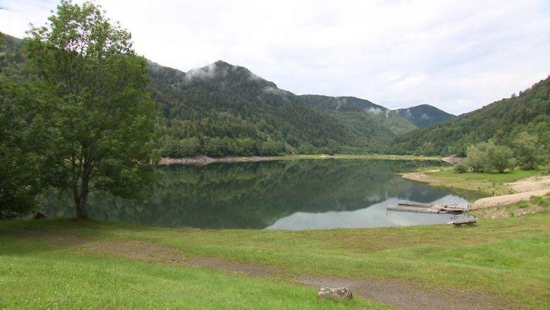 La partie supérieure du lac de Kruth-Wildenstein, encore très paisible / © Vincent Roy / France Télévisions