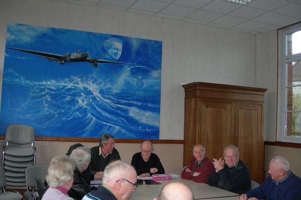L'assemblée générale de l'association, dans la salle Jean Mermoz à Mainbressy.