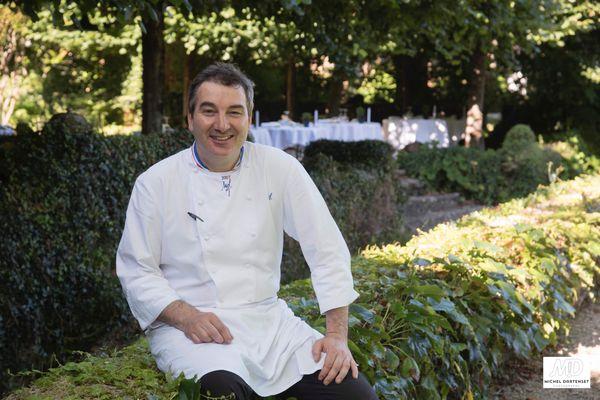 Vincent Arnould, chef au restaurant Le Vieux Logis à Trémolat en Dordogne