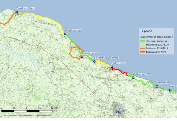 La Vélomaritime compte cent-vingt kilomètres de piste cyclable sur le littoral du Calvados.