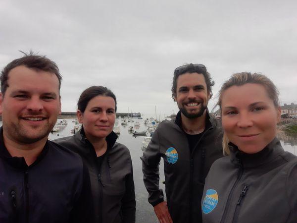 Benoît, Claire, Clément et Sarah en vadrouille sur la Vélomaritime.