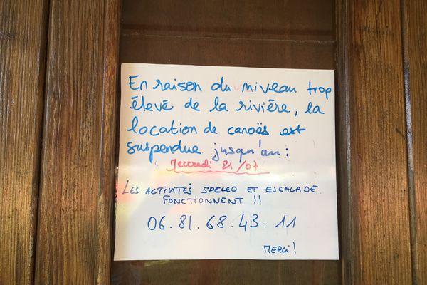 En Dordogne, la saison des canoës est courte, un mois de perdu ne se rattrappe pas