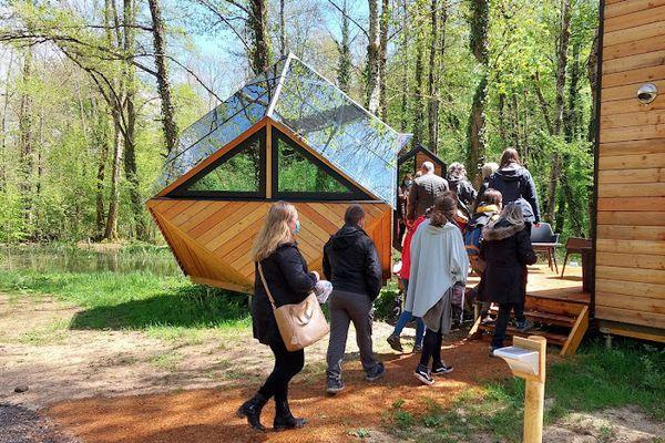 Pour être bien formé, les visites de terrain sont indispensables. Ici, au Domaine du Moulin de Trimeule (Haute-Marne).