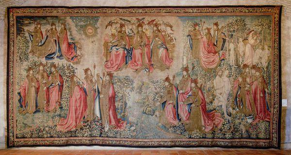 La Création, une tapisserie flamande époque renaissance , est exposée à Narbonne depuis le XVIIème siècle